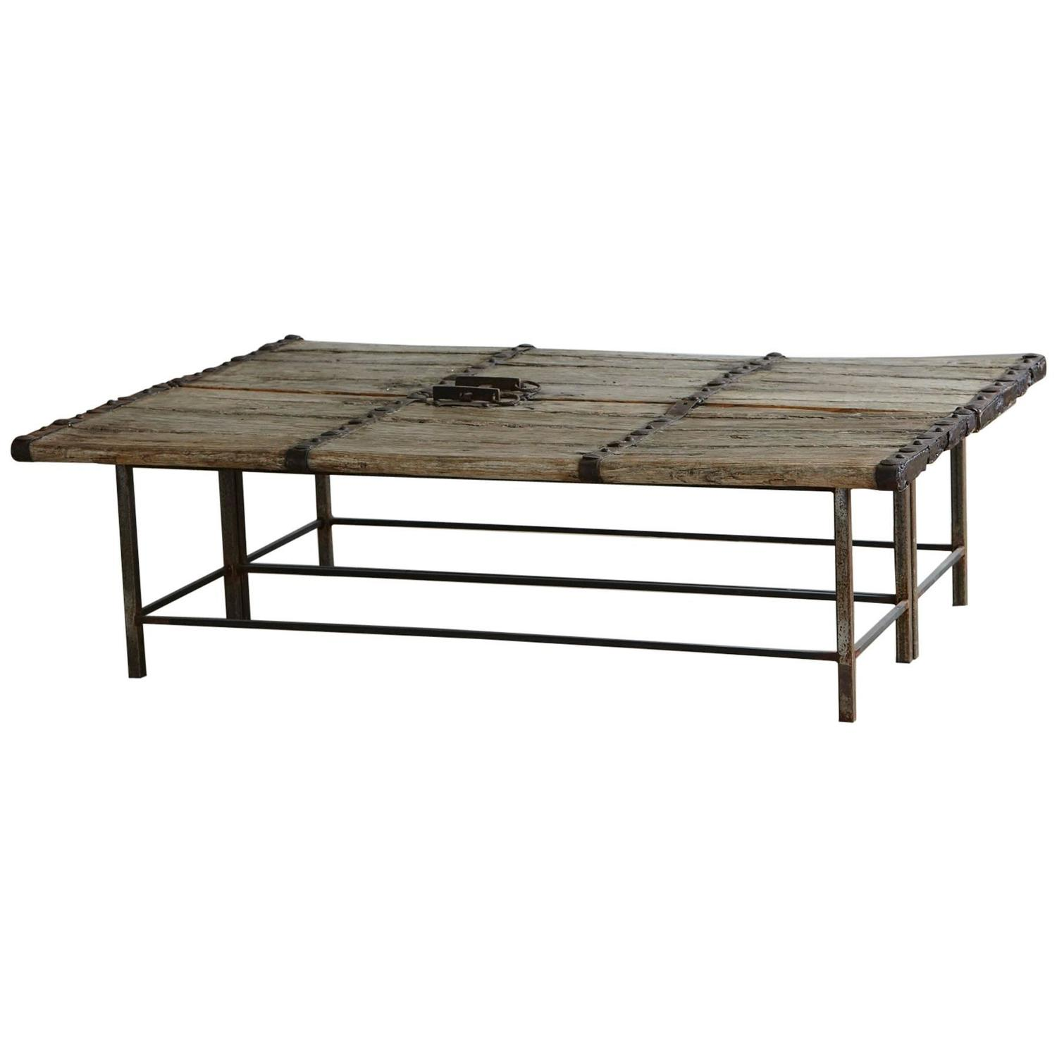 Low Antique Chinese Door Coffee Table at 1stdibs