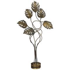 Italian Mid-Century Modern Brass Tommaso Barbi Style Floor Lamp