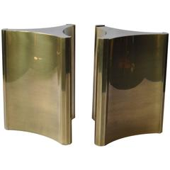 Pair of Mastercraft Brass Dining Table Pedestals