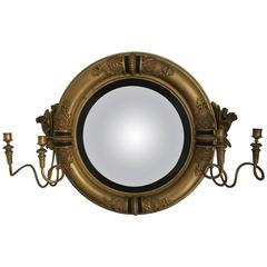 Regency Period Convex Girandole Mirror