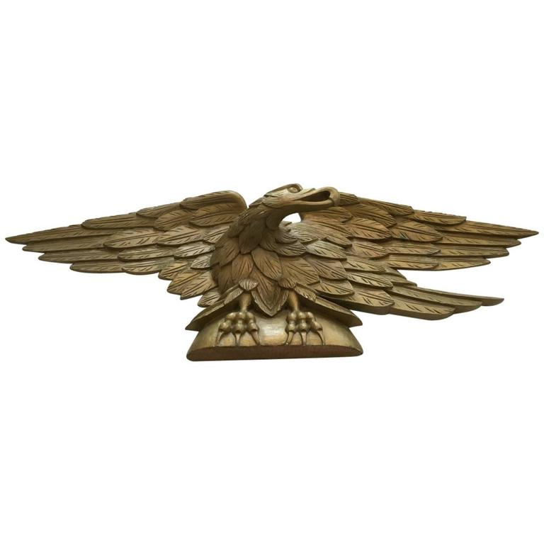 Carved Gilt Over Door Eagle For Sale At 1stdibs