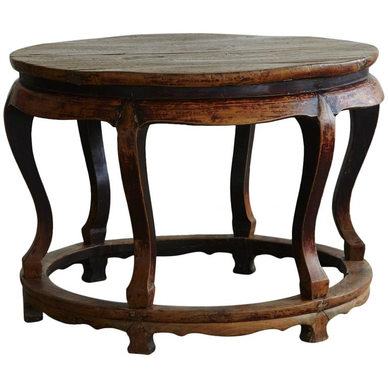 Antique chinese round center table for sale at 1stdibs for Antique chinese tables for sale