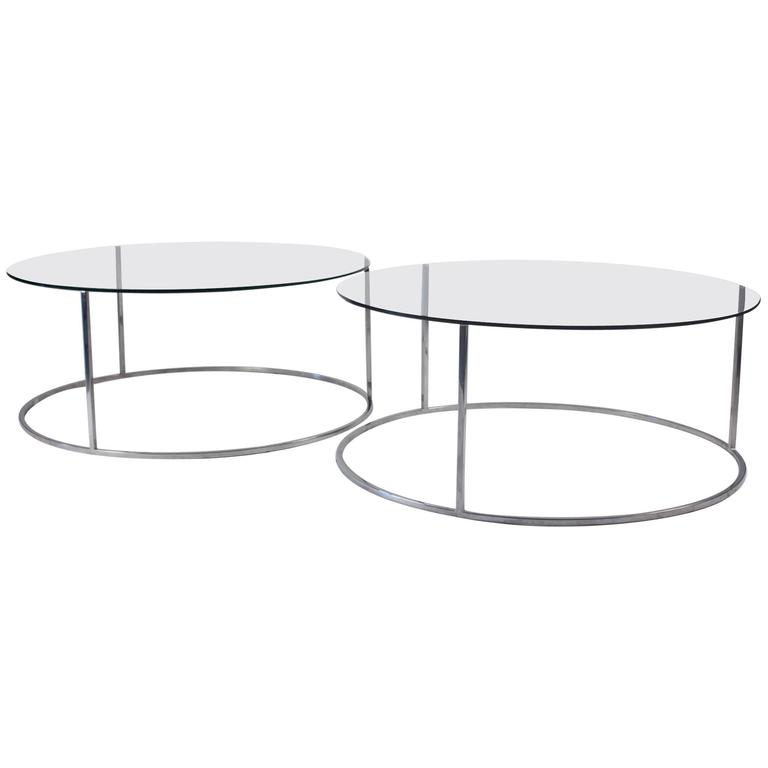 Pair of Design Institute of America Low Tables, Attributed to Milo Baughman