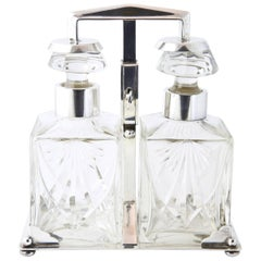 WMF Art Deco Tantalus Decanter Set