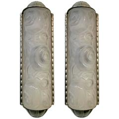 A Pair of French Art Deco Wall Sconces by Genet et Michon