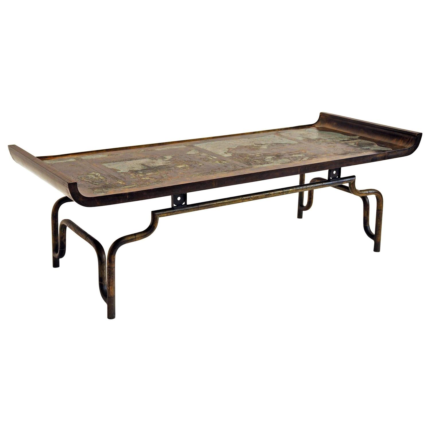 Philip Laverne Coffee Table.Philip And Kelvin Laverne Coffee Table Bronze And Pewter
