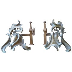 Louis XIV Andirons or Firedogs