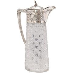 Austrian Continental Silver .835 Mounted Claret Jug