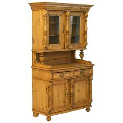 Antique Romanian Pine Cupboard, circa 1870-1890