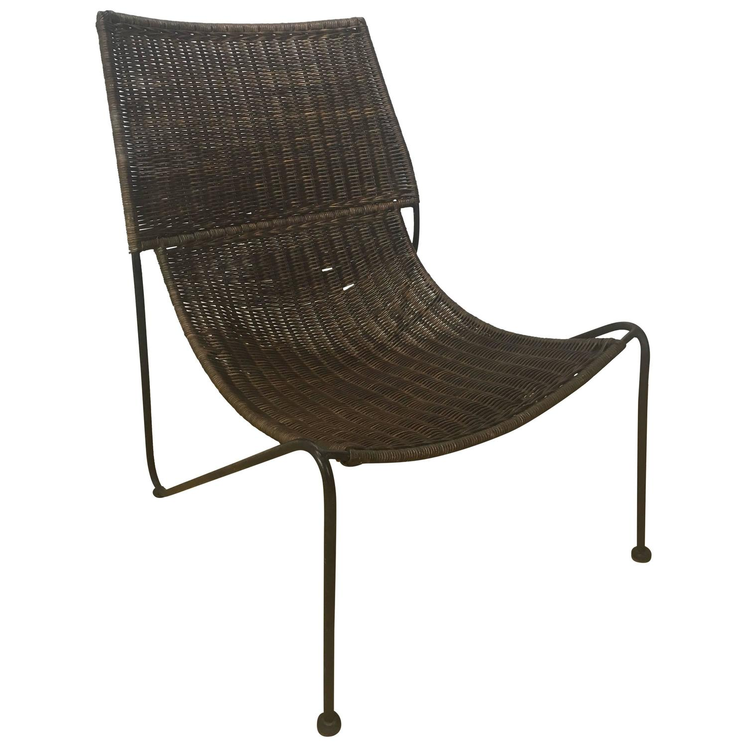 Sculptural Rattan Lounge Chair For Sale at 1stdibs