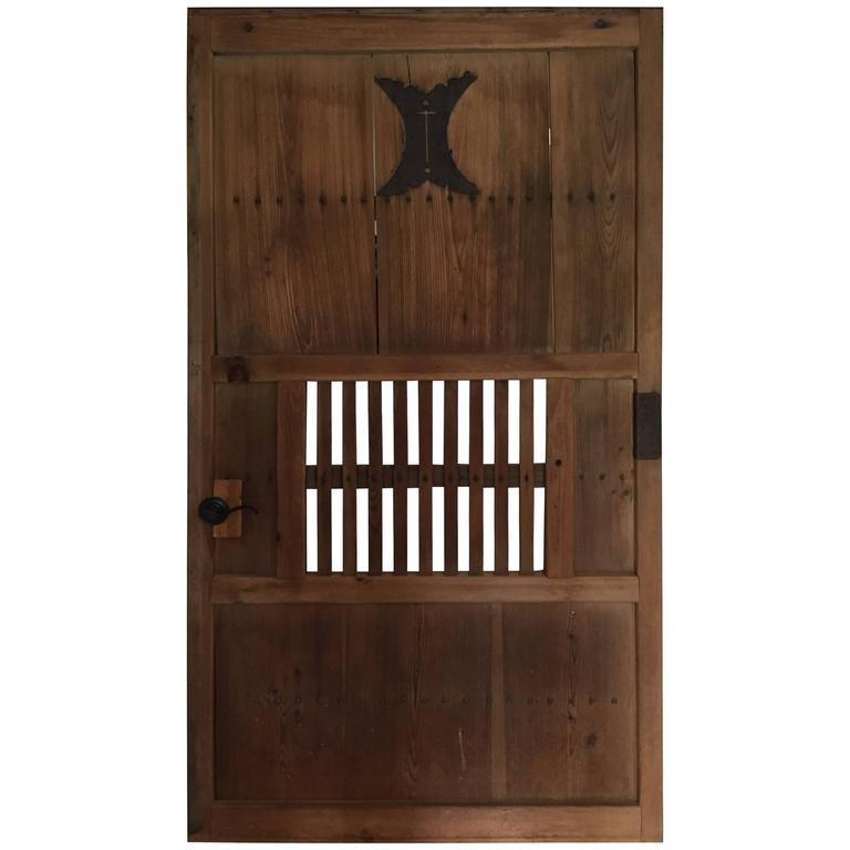 Handsome big antique japanese kura store house door for for Entrance doors for sale