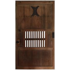 Handsome Big Japanese Kura Store House Door, Antique Accent Immediately Useable