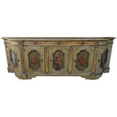 19th Century Venetian Painted Credenza