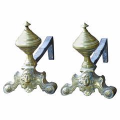 Louis XIV Style Andirons, Firedogs