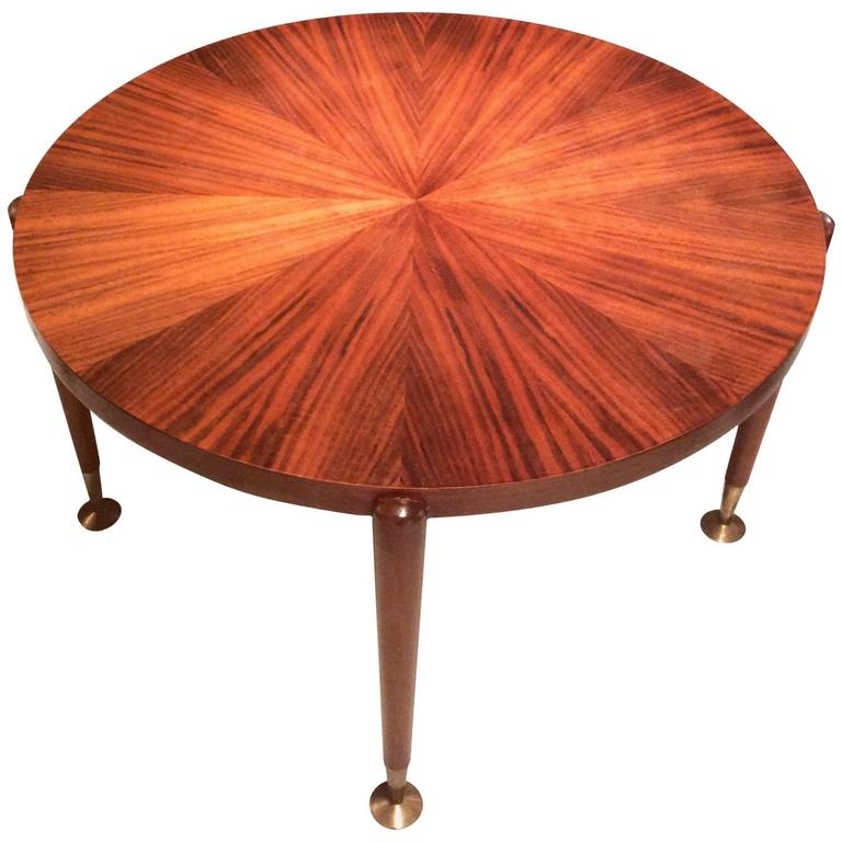 French Art Deco Rosewood Coffee Table, circa 1940