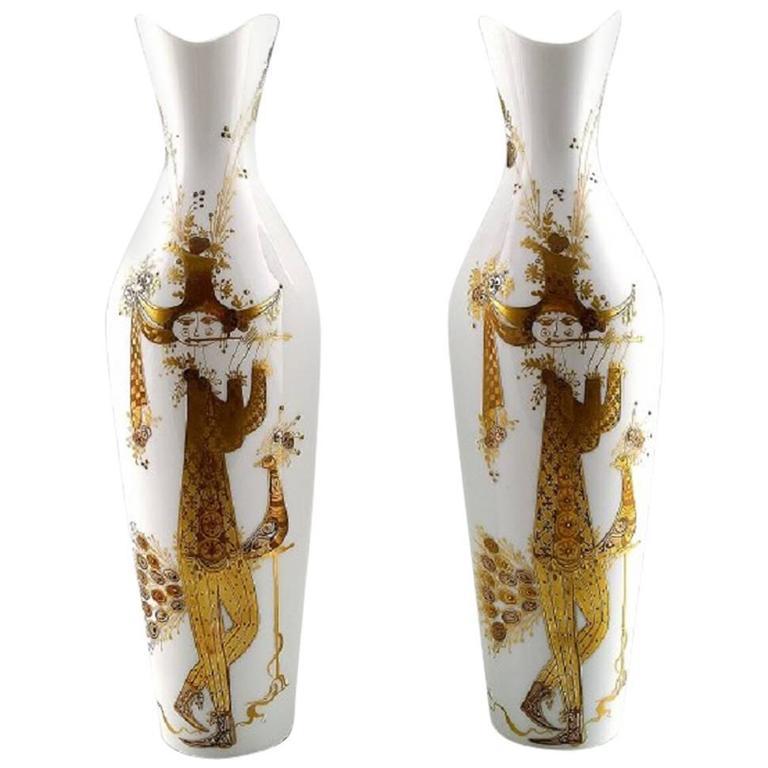 Rosenthal Studio Line Quatre Couleurs, Bjorn Wiinblad a Pair of Porcelain Vases