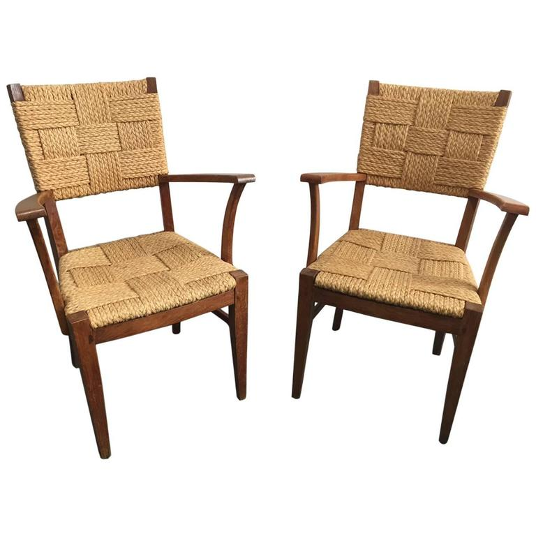 Pair of Audoux-Minet Armchairs