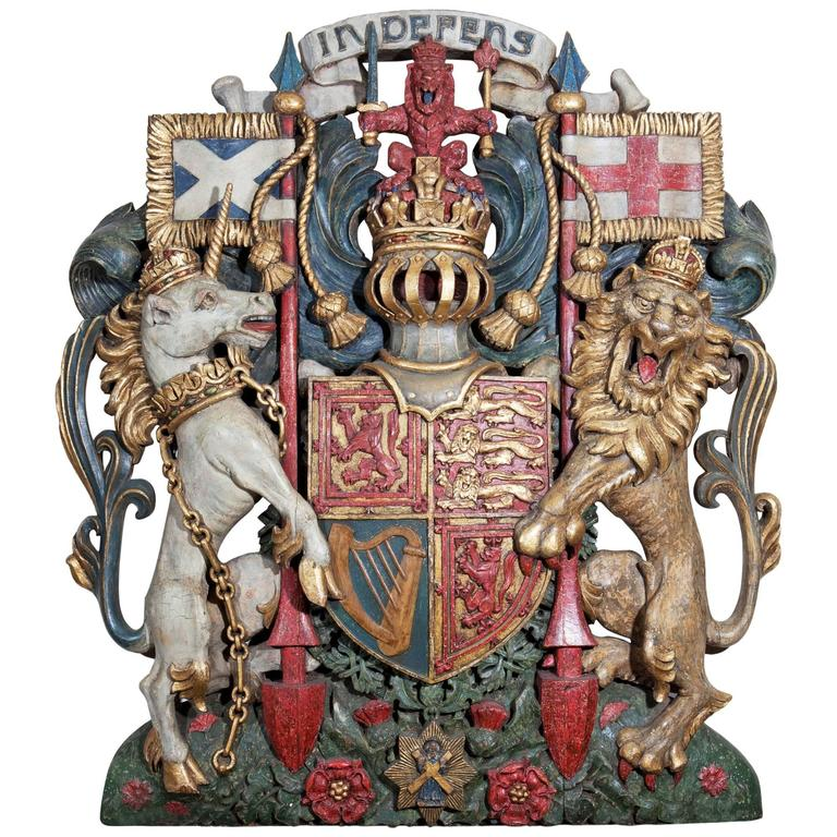 19th Century Royal Coat of Arms of the United Kingdom