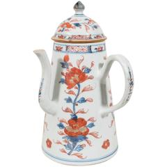 Antique Chinese Porcelain Imari Decorated Coffee Pot