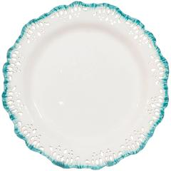 Wedgwood Creamware Dishes with Turquoise Edge