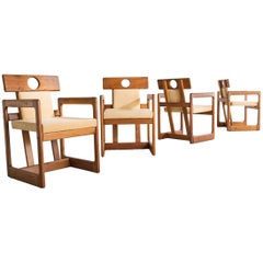 "Set of Four ""Cuibá"" Dining Chairs by Sergio Rodrigues, Brazil, 1985"