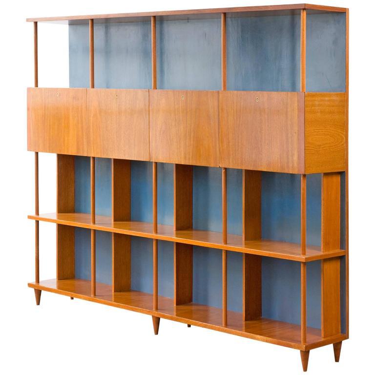 Bookshelf in Caviona Wood by Joaquim Tenreiro, Brazil, 1950s