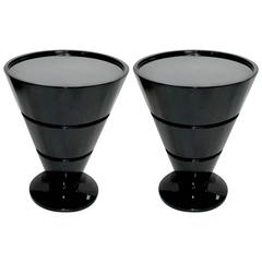 1950s Lacquer Side Tables