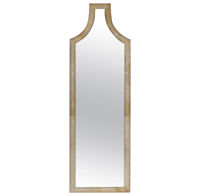 Tall parchment mirror for sale at 1stdibs for Tall mirrors for sale