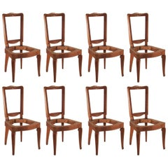 Andre Arbus Set of Eight Dining Chairs in Cherry