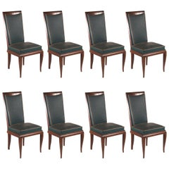 Rene Prou Attributed Set of Eight Dining Chairs