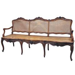 19th Century Caned Louis XV Style Settee