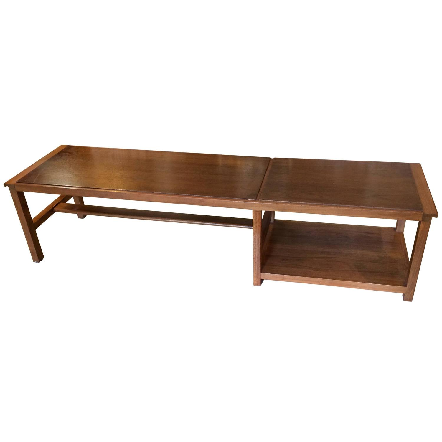 Long low and sleek dunbar coffee table at 1stdibs Sleek coffee table