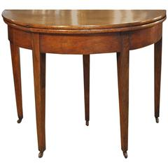 French Directoire Demilune Console in Walnut