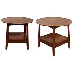 Authentic Pair of Dunbar Oval Side Tables