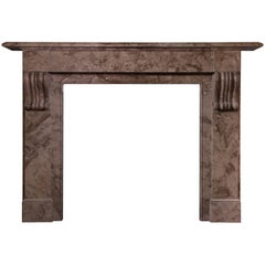 19th Century French Victorian Mantel carved in Belgian Marble (FR-ZE44)