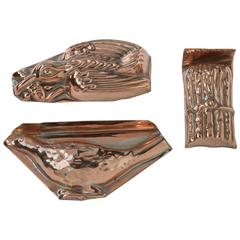 English Copper Miniature Aspic Cooking Kitchen Moulds, Late 19th Century