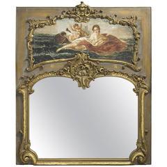 19th Century French Louis XV Style Trumeau Mirror