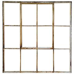Set of Six 1920 Steel Factory Window