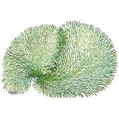 Green and Gold Iron Coral Wall Sculpture by Fabio Ltd
