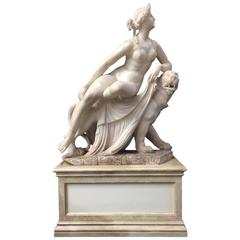 Alabaster Figure of Ariadne on the Panther, 19th Century