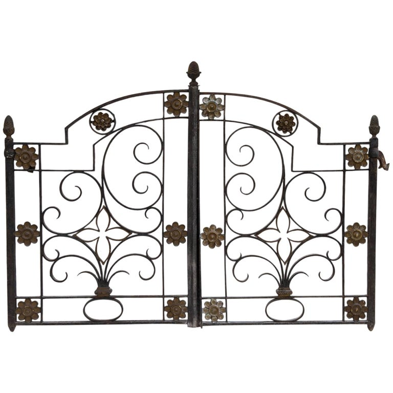 Antique Fine Little Interior Gate or Bed Headboard For Sale