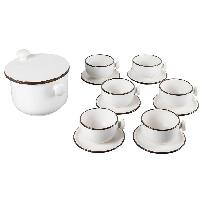 Enzo Bioli Ceramic Dining Set for Il Picchio
