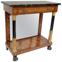 19th Century Dutch Console with Marquetry Decor