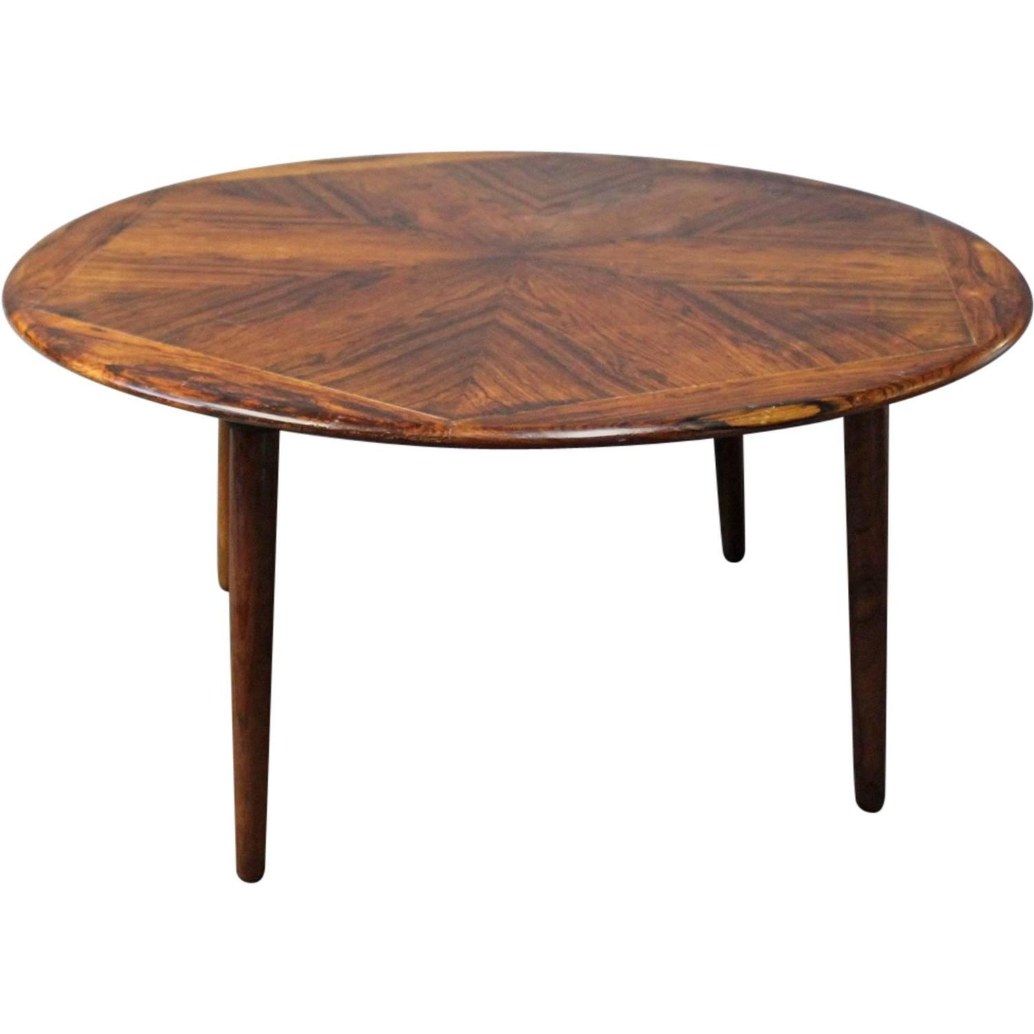 Large Round Coffee Table In Rosewood By Henry W Klein And Bramin 1960s At 1stdibs