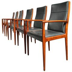 Set of Six Conference/Dining Chairs for Lübke, Germany, circa 1960