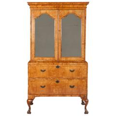 Fine Early 18th Century Elm Bureau Cabinet