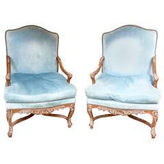 Pair of Swedish Rococo Style Armchairs