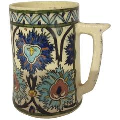 French Samson Iznik Style Islamic Ceramic Mug, circa 1900