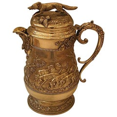 Edwardian Hunting Themed Tankard by Holland, Aldwinkle and Slater, 1903