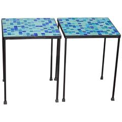 Pair of Italian Mosaic Tables